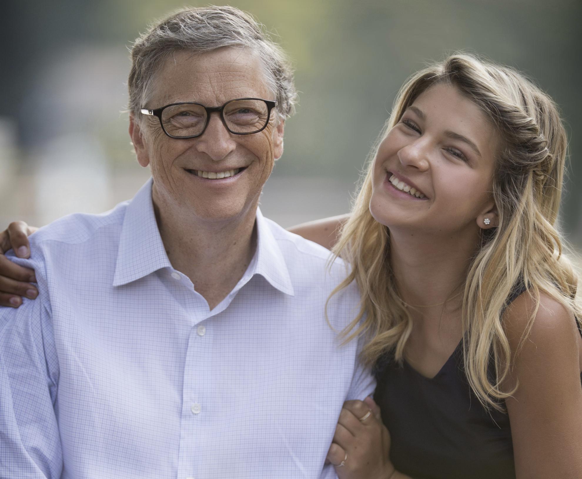 Bill Gates with Phoebe Adele Gates