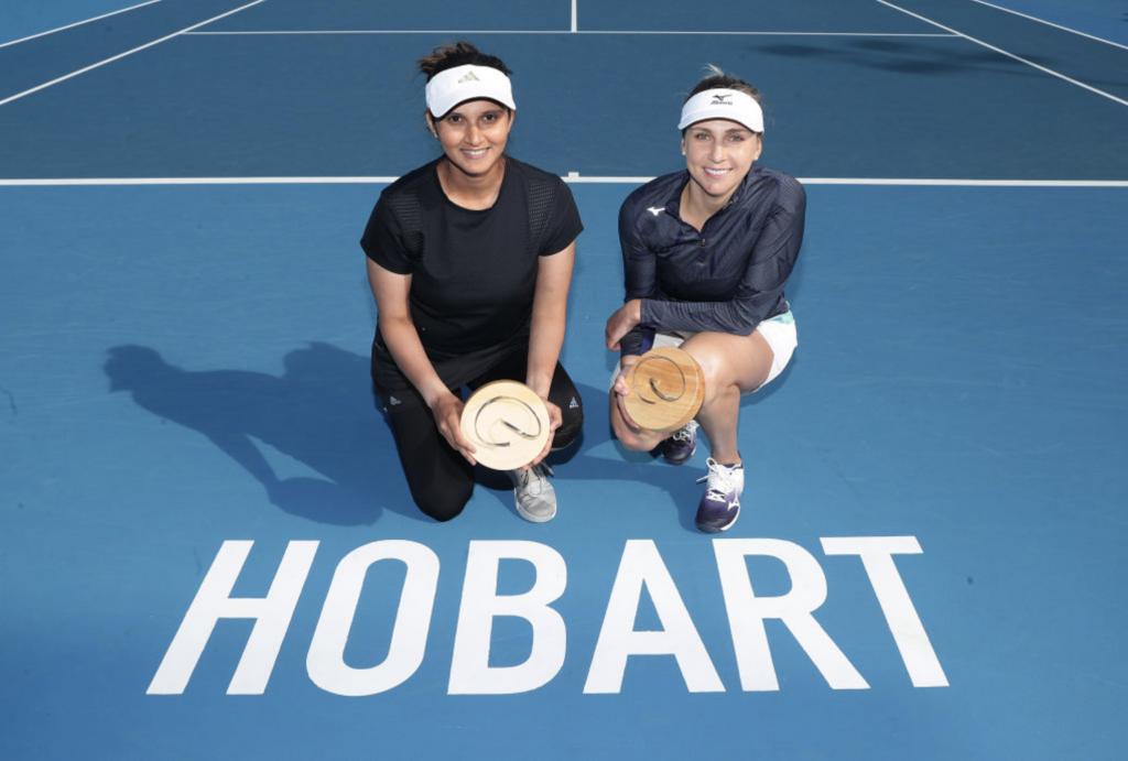 Sania Mirza and Nadiia Kichenok HOBART