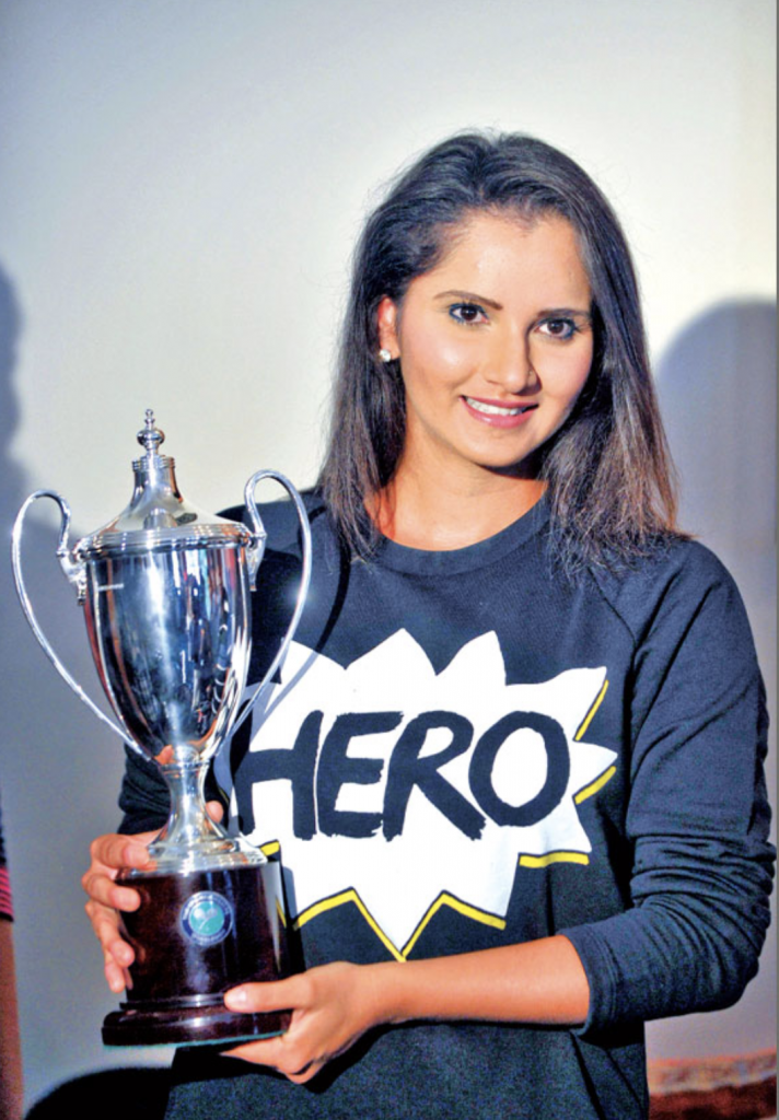 Sania Mirza with Trophy