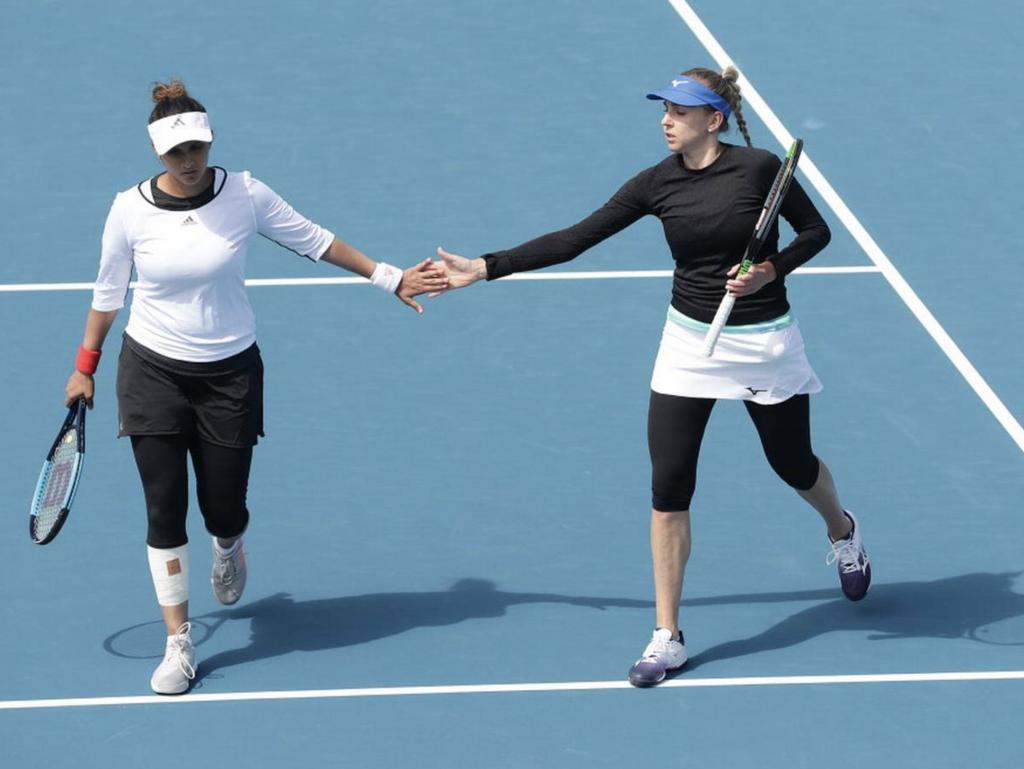 Sania Mirza with her Partner Nadiia Kichenok