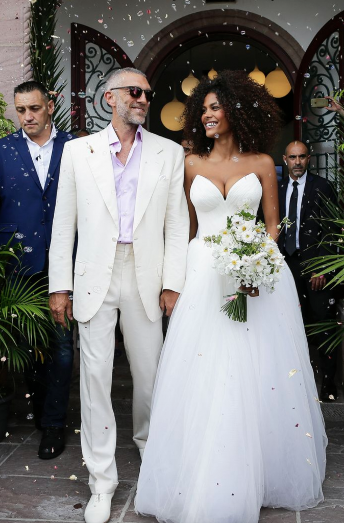 Tina Kunakey and Vincent Cassel Marriage