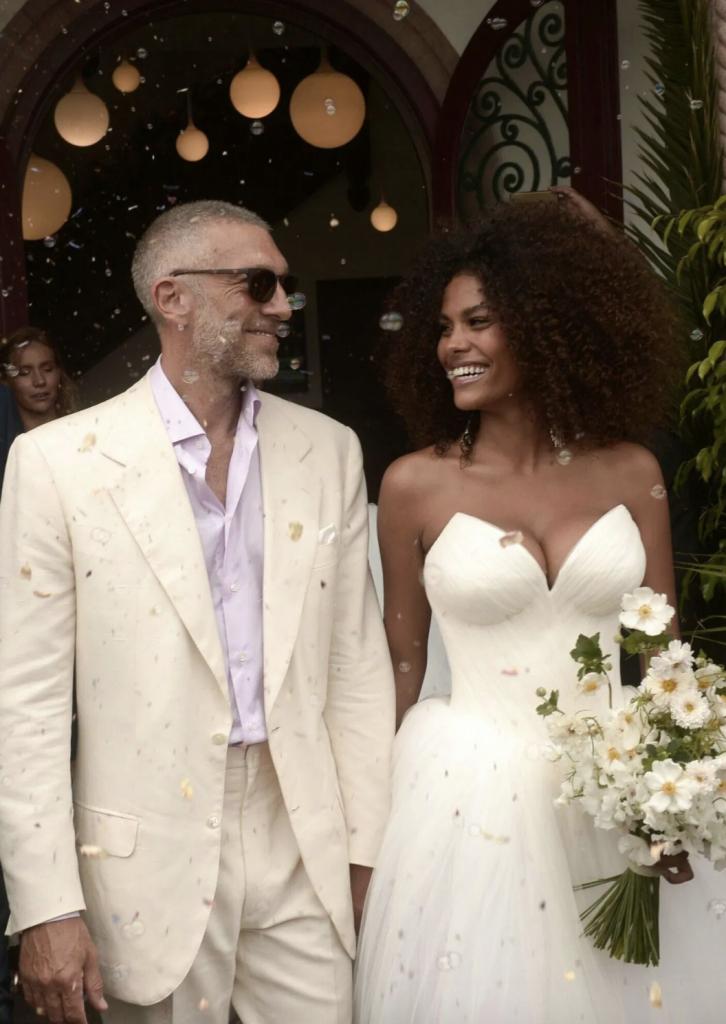 Tina Kunakey and Vincent Cassel Wedding
