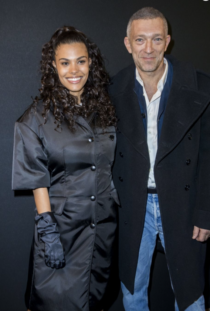 Tina Kunakey with husband Vincent Cassel