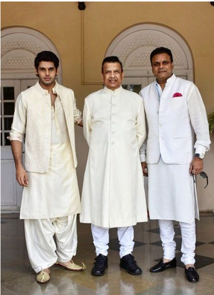 Abhimanyu Dasani with his Father and Grand Father