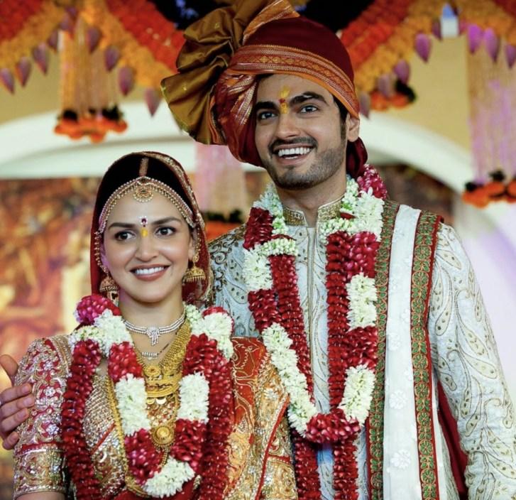 Esha Deol and Bharat Takhtani wedding pic