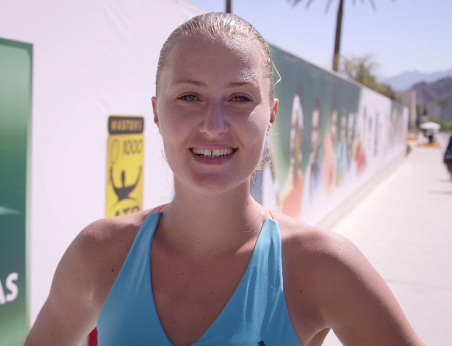 Kristina Mladenovic Teeth