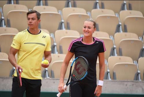 Sasha Bajin with Kristina Mladenovic