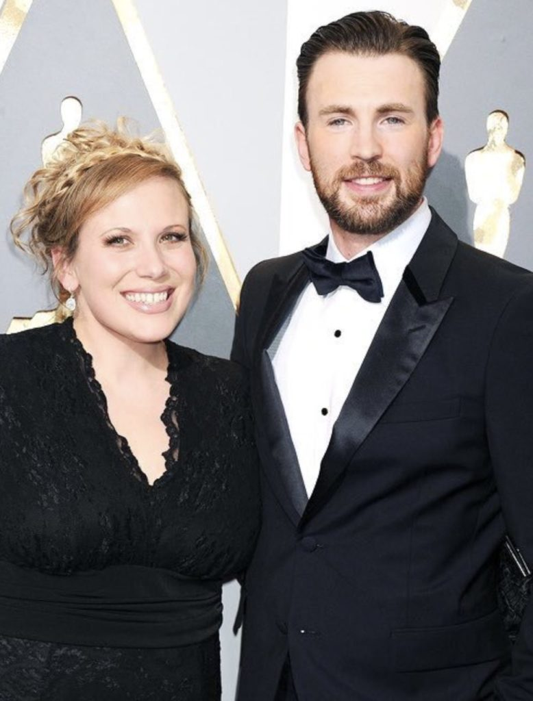 Carly Evans With Chris Evans